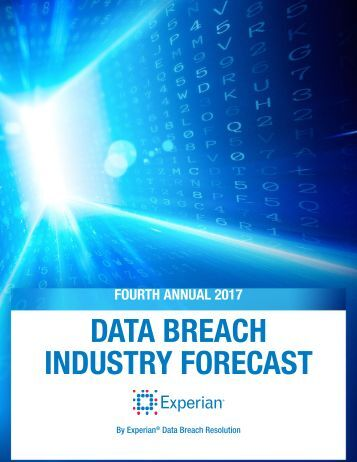 DATA BREACH INDUSTRY FORECAST