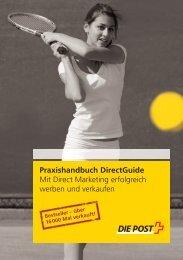 Praxishandbuch DirectGuide - Die Schweizerische Post