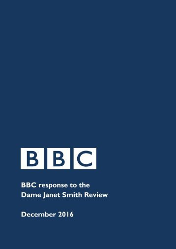 BBC response to the Dame Janet Smith Review December 2016