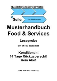 Musterhandbuch Food & Services