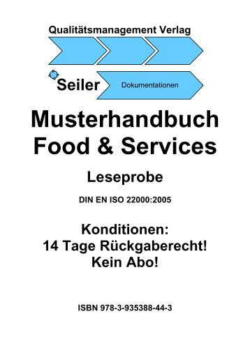 Musterhandbuch Food & Services