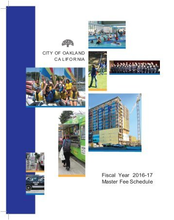 Fiscal Year 2016-17 Master Fee Schedule