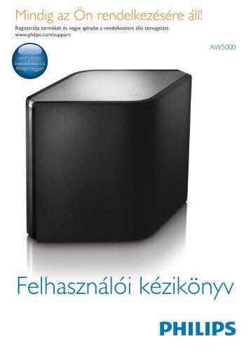 Philips Fidelio Enceinte Hi-Fi sans fil A5 - Mode d'emploi - HUN