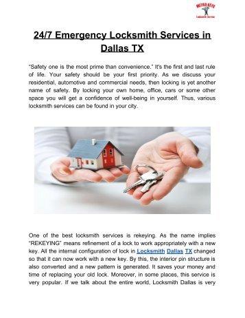 Get the best locksmith service in Dallas