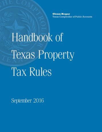 Texas Property Tax Rules