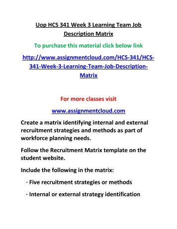 job matrix template