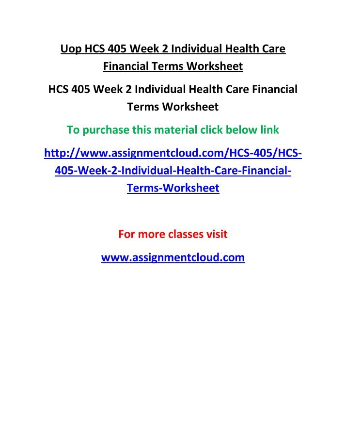 health care financial terms week one essay _a+ grade response_ ####hca 240 week 1 analyze a contemporary health care issue identify a contemporary health care issue and  expert help from one of our.