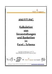 ANLEITUNG Kalkulation von Veranstaltungen und ... - F&B Support