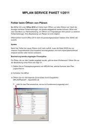 MPLAN SERVICE PAKET 1/2011 Fehler beim Öffnen ... - microplan