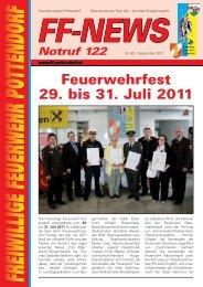 Feuerwehrfest 29. bis 31. Juli 2011 - FF Pottendorf