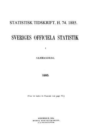 Sweden Yearbook - 1885