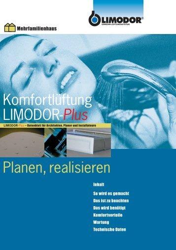 Komfortlüftung LIMODOR-Plus Planen, realisieren - Trivent AG