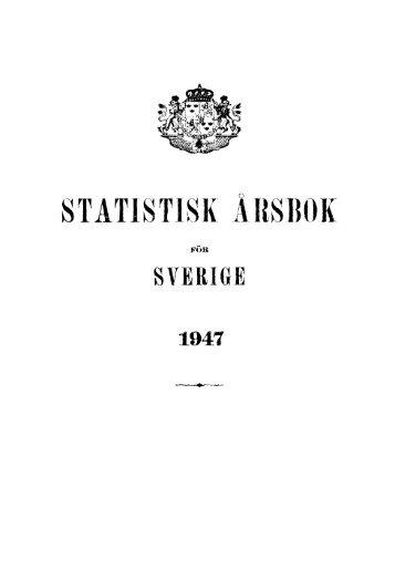 Sweden Yearbook - 1947