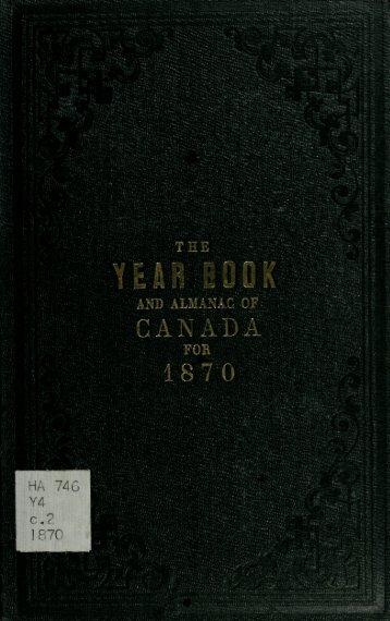 Canada Yearbook - 1870