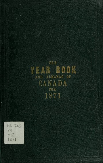Canada Yearbook - 1871
