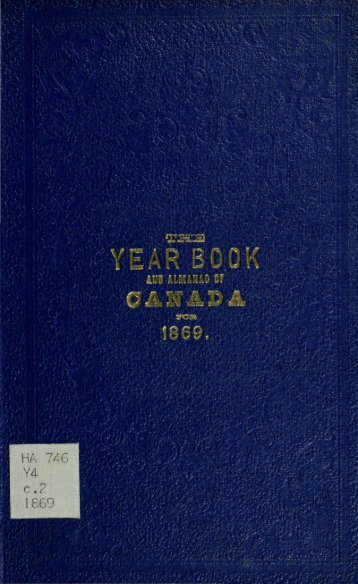 Canada Yearbook - 1869