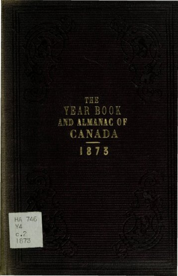 Canada Yearbook - 1873