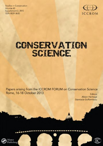 Studies in Conservation Supplement 1 2015 ISSN 0039-3630