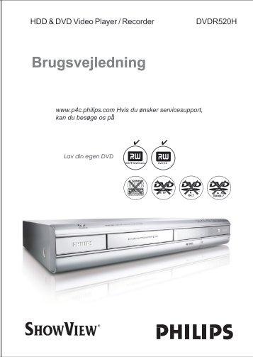 Philips Lecteur/enregistreur de DVD disque dur - Mode d'emploi - DAN