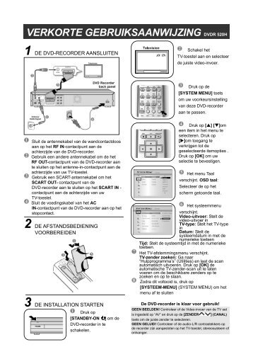 Philips Lecteur/enregistreur de DVD disque dur - Guide de mise en route - NLD