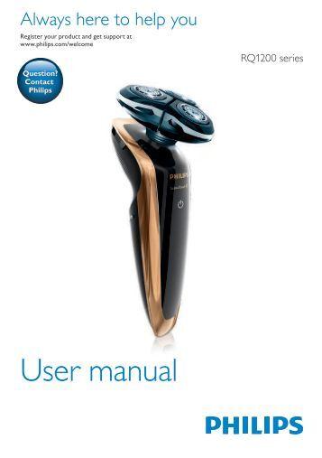 Philips Shaver series 9000 SensoTouch Rasoir électrique 100 % étanche - Mode d'emploi - MSA