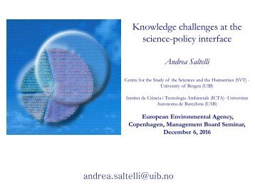 Knowledge challenges at the science-policy interface