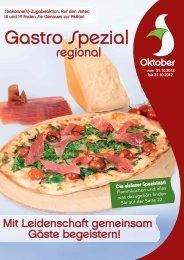 Gastro Spezial Regional - Oktober 2012 - Recker Feinkost GmbH