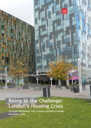 Rising to the Challenge Londons Housing Crisis