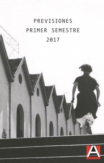 PREVISIONES PRIMER SEMESTRE 2017
