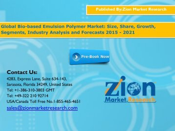 Bio-based Emulsion Polymer Market