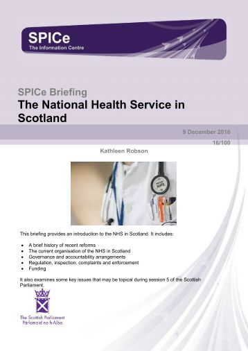 The National Health Service in Scotland