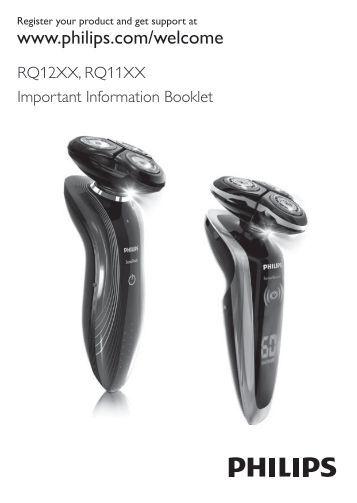 Philips Shaver series 7000 SensoTouch Rasoir électrique 100 % étanche - Instructions avant utilisation - NOR