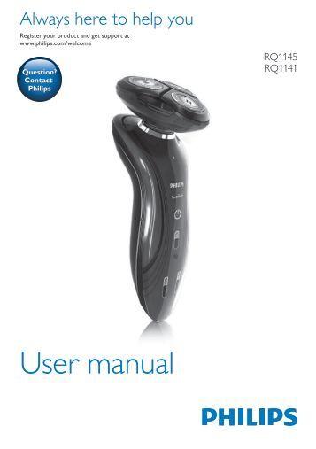 Philips Shaver series 7000 SensoTouch Rasoir électrique 100 % étanche - Mode d'emploi - FRA