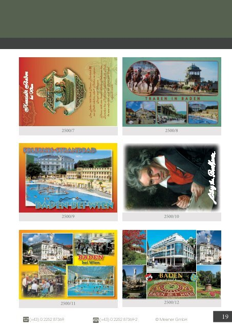 Meixner Ansichtskarten-Katalog Niederösterreich - SOMMER