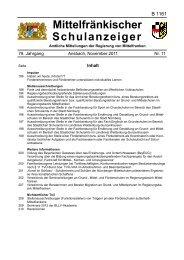 Schulanzeiger 11 2011 - Regierung von Mittelfranken - Bayern