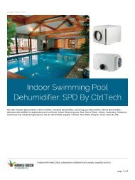 dehumidifier for swimming pool SPD series