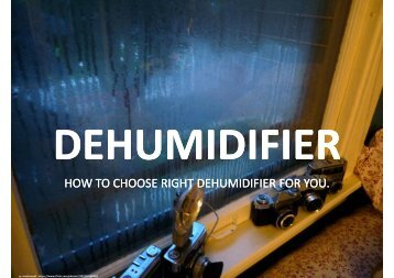How to choose right size of dehumidifier