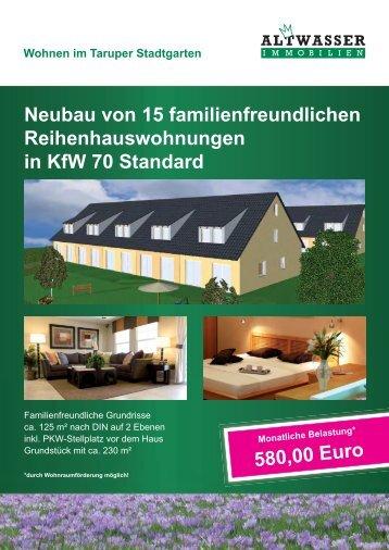 Wohnen im Taruper Stadtgarten - Immobilien Makler Flensburg