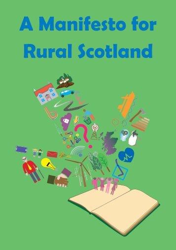 A Manifesto for Rural Scotland