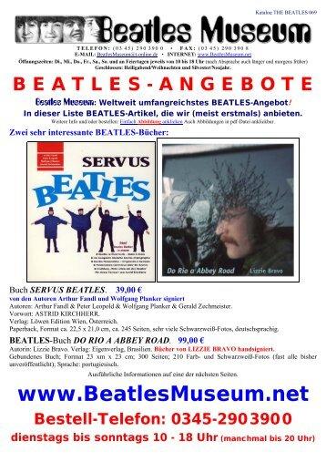 Beatles Museum - Katalog 69 mit Hyperlinks