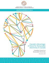 Canada's Advantage A Vision for Renewable Electricity in Canada