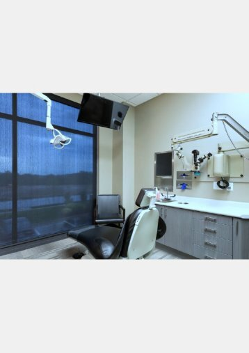 Comfortable dental chair and nice view of the outside at dental implants specialist  Gordon Dental Kansas City MO