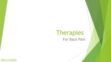 Therapies to ease your back pain misery