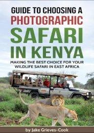 Africa Sky Guide To Choosing A Safari in Kenya