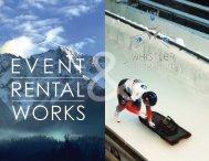 Whistler Sliding Center and Event Rental Works