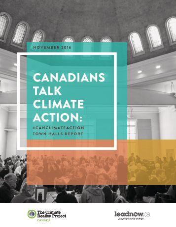 CANADIANS TALK CLIMATE ACTION