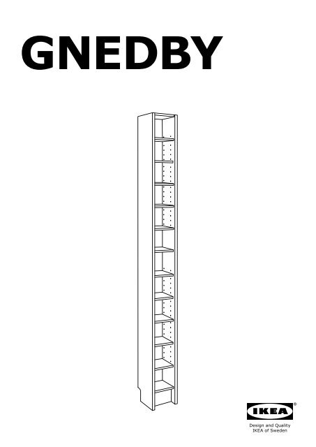 Nice Ikea BILLY / GNEDBY Libreria   S09023403   Istruzioni Di Montaggio