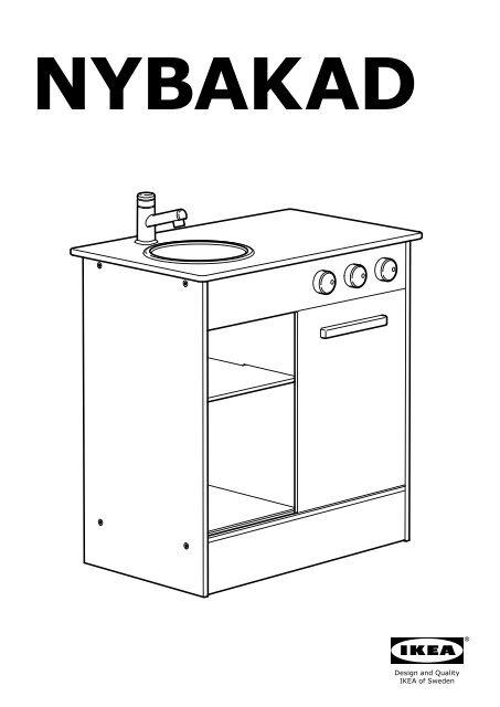 Ikea NYBAKAD cucina gioco - 70306021 istruzioni montaggio ...