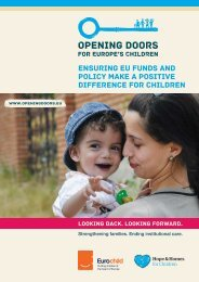 Ensuring EU funds and policy make a positive difference for children
