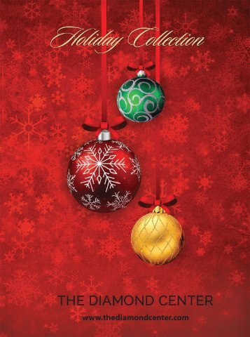 The Diamond Center (WI) 20pg Holiday Collection Catalog 2016 Happy Holidays